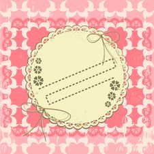 Free Ornate Vintage Vector Frame On Grange Background Stock Images - 21115694