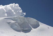 Free Massive Snow On The Alps Royalty Free Stock Photos - 21115918