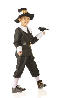 Free Nature Friendly Pilgrim Boy Stock Photo - 21116880