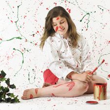 Free Christmas Paint Mess Royalty Free Stock Image - 21116916