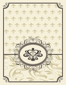 Free Vintage Background With Floral Frame Royalty Free Stock Image - 21117036