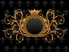 Retro Frame With Heraldic Crown Royalty Free Stock Photography