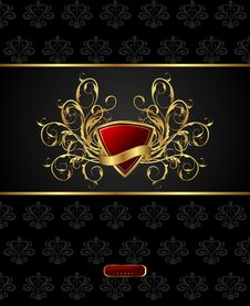 Free Floral Packing With Heraldic Shield Royalty Free Stock Photo - 21117055