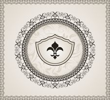 Cute Background With Heraldic Element Stock Photography