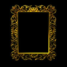 Free Decorative Gold Frame Stock Photo - 21117200