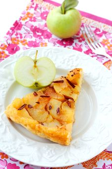 Slice Of Apple Pie Stock Images