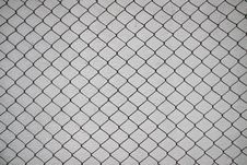 Free Iron Net And White Cement Wall Royalty Free Stock Photos - 21118208