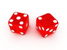 Free Transparent Red Dice Royalty Free Stock Image - 21119596
