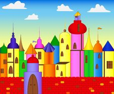 Colored Castle Royalty Free Stock Photos