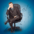 Free Businessman Sitting On Chair Royalty Free Stock Photos - 21122168