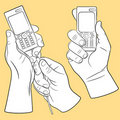 Free Hands And Mobile Phones Stock Image - 21122421