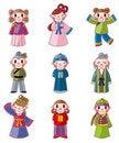Free Cartoon Chinese People Icon Set Stock Photo - 21126330