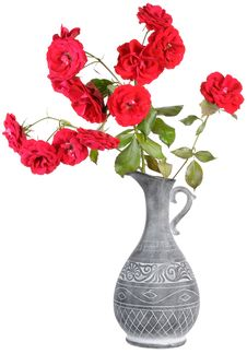 Free Red Roses In Jar Royalty Free Stock Photos - 21120098