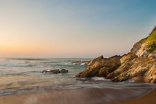 Free Waves On Rocky Beach Stock Photo - 21120430