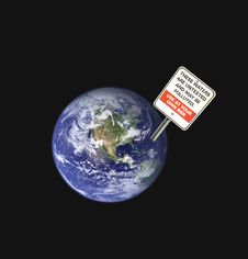 Earth Pollution Royalty Free Stock Photo