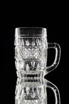 Free Empty Crystal Glass Stock Photography - 21121192