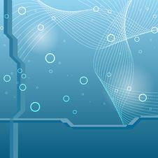 Hi-tech Blue Background Stock Image