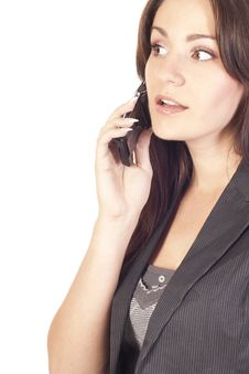 Free Businesswoman Talking On The Phone Royalty Free Stock Image - 21121526
