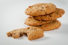 Free Chocolate Chip Cookies Royalty Free Stock Image - 21121576