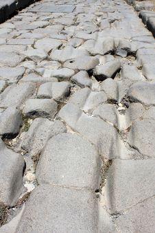 Pompeii Road Stock Photography