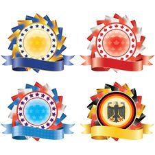 Free Award Ribbon Rosettes. Stock Photography - 21122452