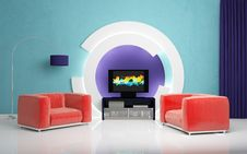Modern Interior Composition. Royalty Free Stock Images