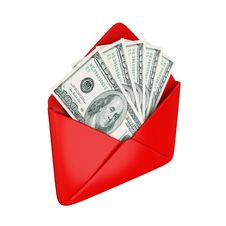 Free Empty Red Cover With Dollars Inside. Royalty Free Stock Photography - 21123107