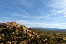 Free Gordes Wide Angle Royalty Free Stock Photography - 21123607