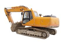 Construction Digger Excavator Stock Photography
