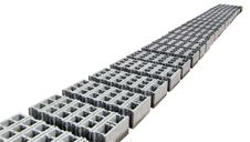 Concrete Blocks -  Gray - Perspective Stock Photos