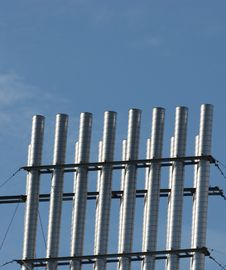 Vertical Pipes Royalty Free Stock Photo
