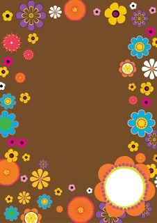 Free Retro Flower Border Stock Photo - 21125910