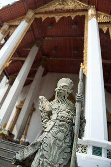 Free Thai Warrior Statue Stock Photography - 21126022