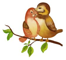 Free Bird Love Royalty Free Stock Image - 21126106