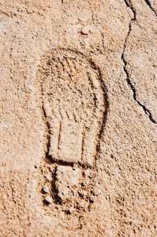 Free One Footprints Royalty Free Stock Photo - 21126505