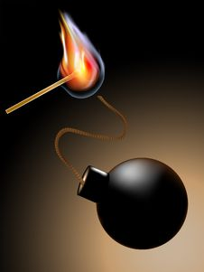 Free Match With Bombs Stock Image - 21126741