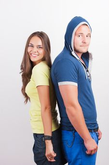 Free Attractive Happy Teenage Couple Stock Images - 21126944