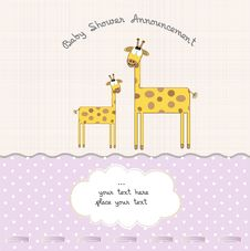 Free Baby Girl Shower Card Stock Photos - 21127433