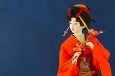 Japanese In Kimono Stock Images