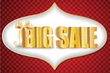 3D Big Sale Royalty Free Stock Image