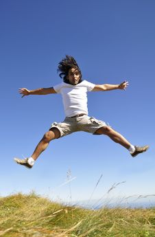 Free Male Jumping For Joy Royalty Free Stock Image - 21128206