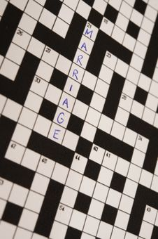 Free Marriage Crossword Stock Photography - 21128382
