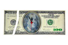 Free Broken Dollar Clock Stock Image - 21128541