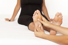 Free Massage Of A Woman's Foot Royalty Free Stock Image - 21129166