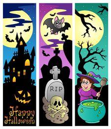 Halloween Banners Set 6 Royalty Free Stock Photos