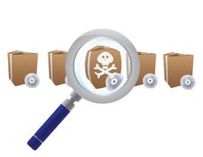 Free Magnifying Glass Searching For Virus Royalty Free Stock Photos - 21129488