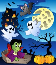 Scene With Halloween Theme 2 Stock Image