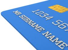 Free 3d Blue Credit Card Stock Photo - 21129500