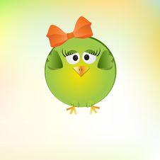 Free Cute Little Girl Bird Stock Photography - 21129762