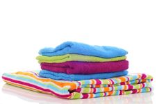 Free Colorful Towels On A White Background Stock Photos - 21129983